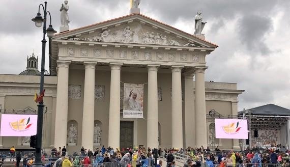 Wizyta papieża Franciszka w Wilnie, fot. Dominika Dębska