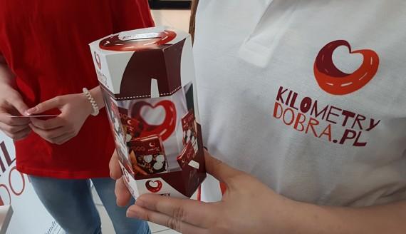 Akcja Kilometry Dobra - wolontariusze odwiedzali białostockie galerie handlowe, fot. Olga Gordiejew