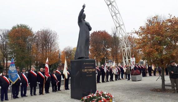 W Suchowoli upamiętniono 33. rocznicę śmierci ks. Jerzego Popiełuszki, 22.10.2017, fot. Grzegorz Pilat