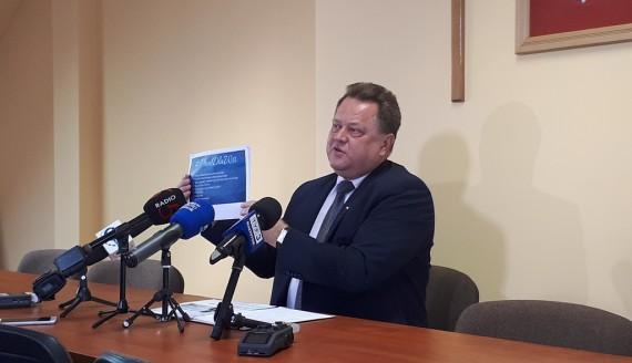 """Jarosław Zieliński mówił w Suwałkach o programie rolnym """"Plan dla wsi"""", fot. Areta Topornicka"""