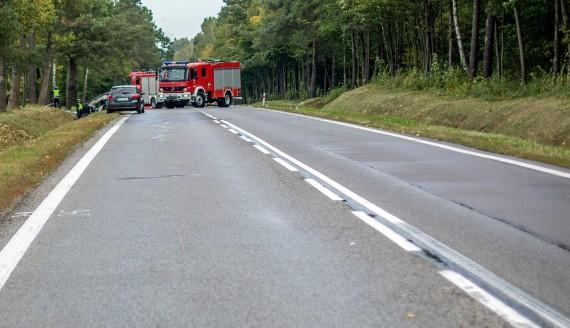 Wypadek na DK61, 23.09.2018, fot. Paweł Wądołowski
