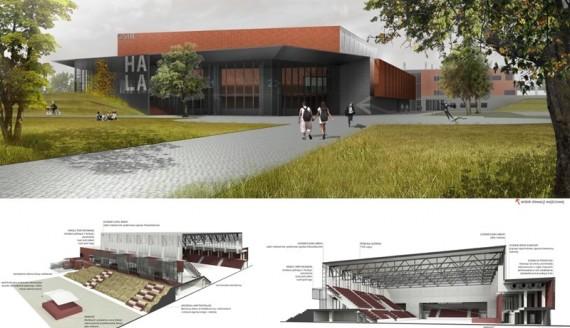 Hala sportowa, źródło wizualizacji: Urząd Miejski w Suwałkach