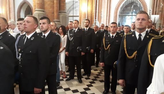 Msza święta w Białymstoku w intencji zmarłych strażaków i ich rodzin, fot. Renata Reda