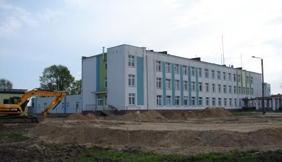 W zambrowskim szpitalu rozpoczęła się rozbudowa izby przyjęć i budowa lądowiska dla śmigłowców, fot. Adam Dąbrowski