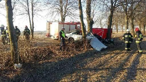 Wypadek k. Kolna, źródło: KWP Białystok