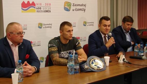 Pochodzący z Białegostoku bokser Kamil Szeremeta będzie bronił w Łomży tytułu mistrza Europy w wadze średniej, fot. Adam Dąbrowski