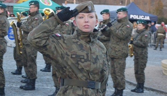 Przysięga żołnierzy WOT w Sejnach, fot. Marcin Kapuściński