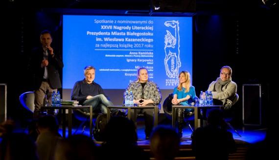 Spotkanie z autorami nominowanymi do Nagrody Kazaneckiego, Białystok 2018, fot. Joanna Szubzda