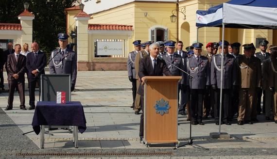 Obchody 98. rocznicy powstania polskiej Policji w Białymstoku, fot. Marcin Gliński