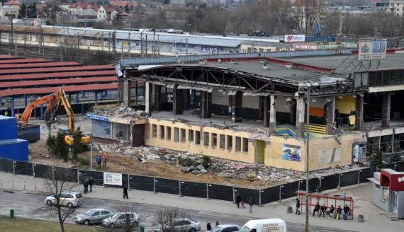Rozbiórka dworca PKS w Białymstoku, fot. Adam Janczewski