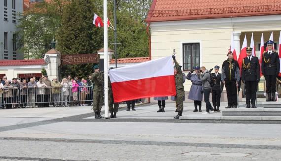 226. rocznica uchwalenia Konstytucji 3 Maja - uroczystości na Rynku Kościuszki w Białymstoku, fot. Marcin Gliński