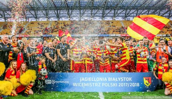 Jagiellonia Białystok wicemistrzem Polski, 2018, fot. Joanna Szubzda