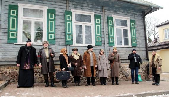 11 lutego 2018r. Inscenizacja wywózki rodziny z Sokółki na Syberię w lutym 1940 roku, fot. Marcin Mazewski