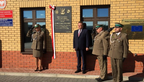 Placówka Straży Granicznej w Kuźnicy, fot. Marcin Mazewski