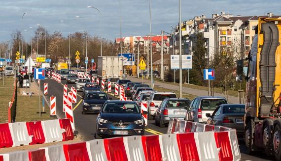 Budowa Trasy Niepodległości, ul. Popiełuszki, fot. Joanna Żemojda