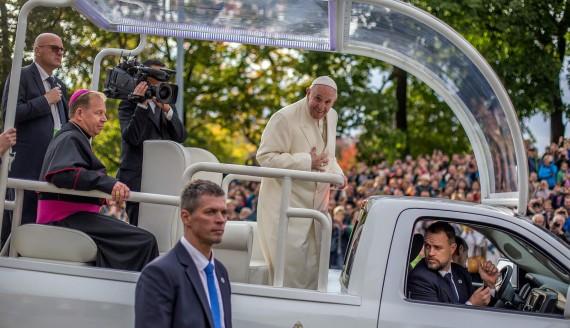 Wizyta papieża Franciszka w Wilnie, 22.09.2018, fot. Paweł Wądołowski