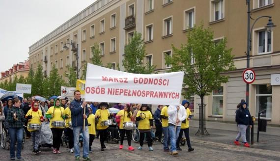 2017.05.09, XV Marsz Godności Osób Niepełnosprawnych w Białymstoku, fot. Marcin Mazewski
