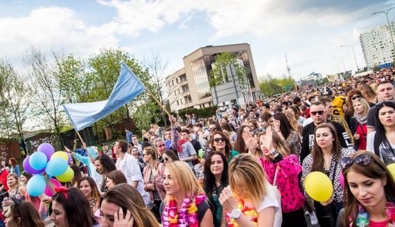 Parada studentów w Białymstoku, Juwenalia, fot. Joanna Żemojda