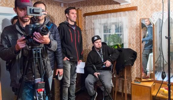 """Plan zdjęciowy filmu """"Czarna Dama"""" w skansenie, fot. Monika Kalicka"""
