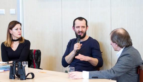 """Spotkanie z Michałem Książkiem, Festiwal """"Autorzy i Książki"""" w Białymstoku, fot. Joanna Żemojda"""