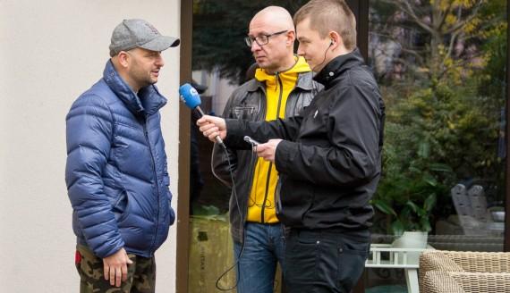 Kamil Kalicki i Andrzej Ryczkowski rozmawiają z Michałem Góreckim, fot. Monika Kalicka