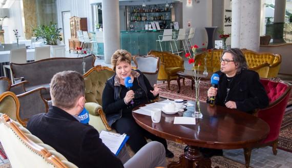 """Polskie Radio Białystok w OiFP przed premierą """"Cyganerii"""", fot. Joanna Żemojda"""