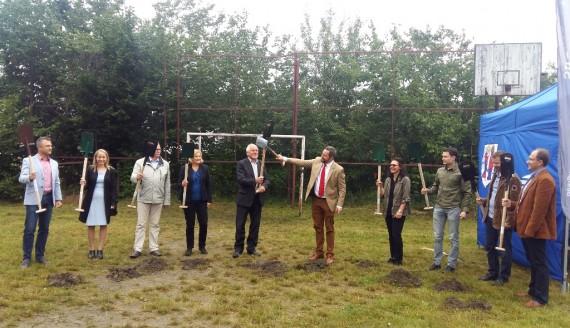 Budowa przedszkola samorządowego w Grabówce, fot. Maksymilian Mierzwiński