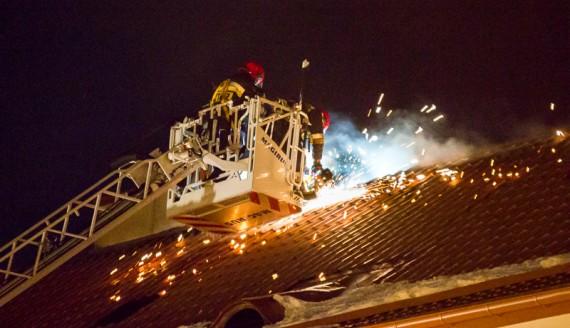 Pożar budynku przy ul. Lipowej w Białymstoku, fot. Joanna Żemojda