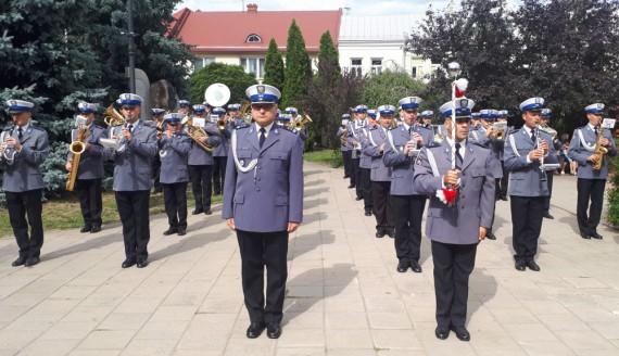 99. rocznica powstania polskiej policji - uroczystości w Łapach, fot. Wojciech Szubzda