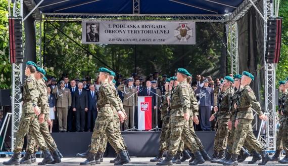 Przysięga Wojsk Obrony Terytorialnej w Białymstoku, fot. Joanna Żemojda