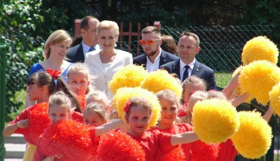 Pierwsza dama na 95-leciu szkoły w Podgórzu, fot. Adam Dąbrowski