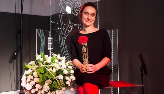 Aneta Prymaka-Oniszk, wręczenie 26. Nagrody Literackiej im. Wiesława Kazaneckiego, fot. Joanna Żemojda