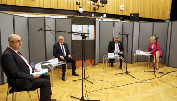 Debata kandydatów na prezydenta Łomży, fot. Marcin Gliński