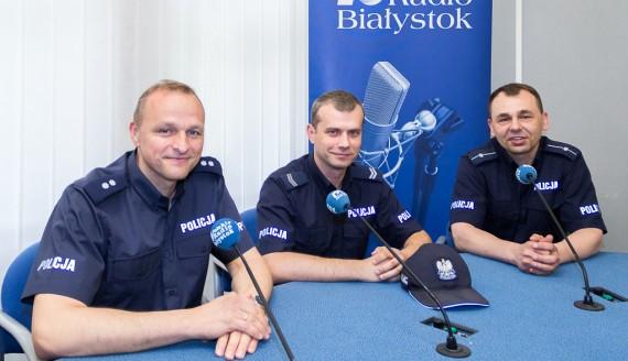 Tomasz Waszczuk, Piotr Tołczyk i Adam Romanowicz, fot. Monika Kalicka