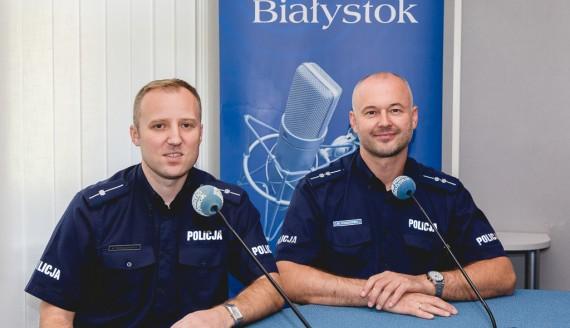 mł. asp. Mariusz Pietruszkiewicz i asp. Wojciech Kosikowski, fot. Joanna Szubzda