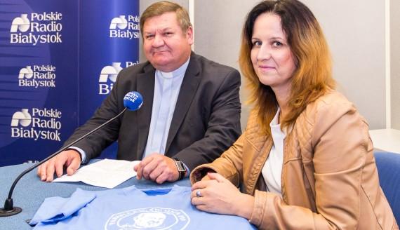 ks. Andrzej Kołpak i Katarzyna Ancipiuk, fot. Monika Kalicka