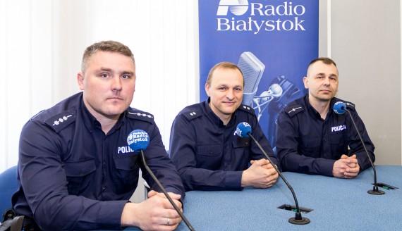 Piotr Supronowicz, Tomasz Waszczuk i Adam Romanowicz, fot. Monika Kalicka