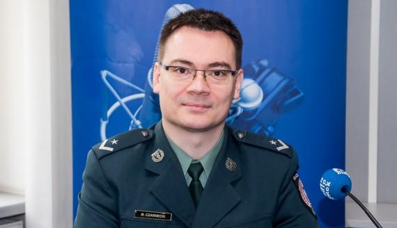 Mł. asp. Maciej Czarnecki, fot. Joanna Żemojda