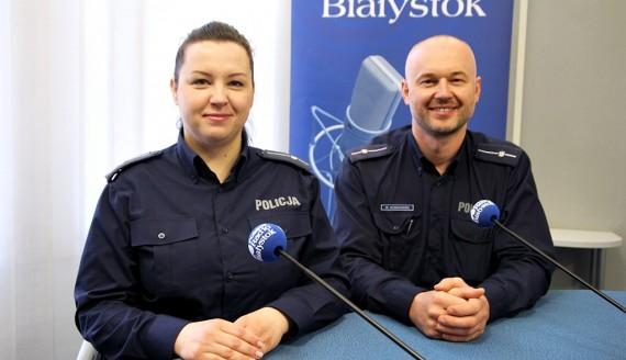 mł. asp. Beata Wyżykowska i mł. asp. Wojciech Kosikowski, fot. Sylwia Krassowska