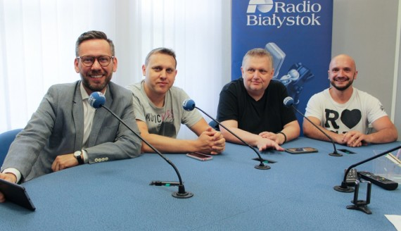 Michał Snarski, Marcin Ozga, Ernest Sienkiewicz i Michał Gieniusz, fot. Sylwia Krassowska