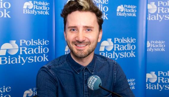 Kriss Sheridan w Polskim Radiu Białystok, fot. Monika Kalicka