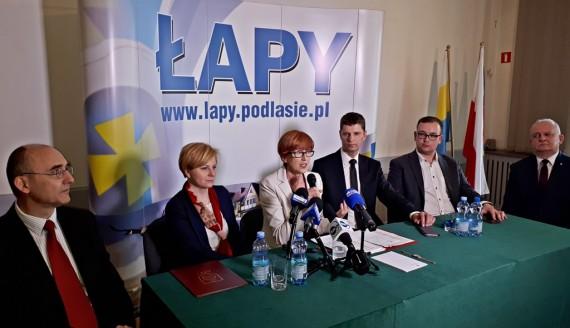 Spotkanie w Łapach z Elżbietą Rafalską, fot. Lech Pilarski