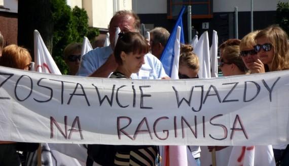Protest przeciwko ekranom przy ul. Raginisa w Białymstoku, fot. Wojciech Szubzda
