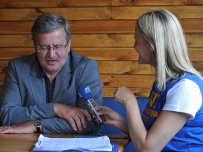 Bronisław Komorowski w Augustowie, fot. Anna Kruszewska