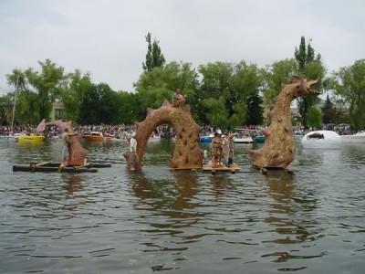 Pływanie na Byle Czym w Augustowie 2006