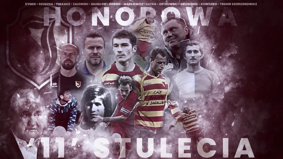 """Honorowa """"11"""" stulecia Jagiellonii Białystok, źródło: jagiellonia.pl"""