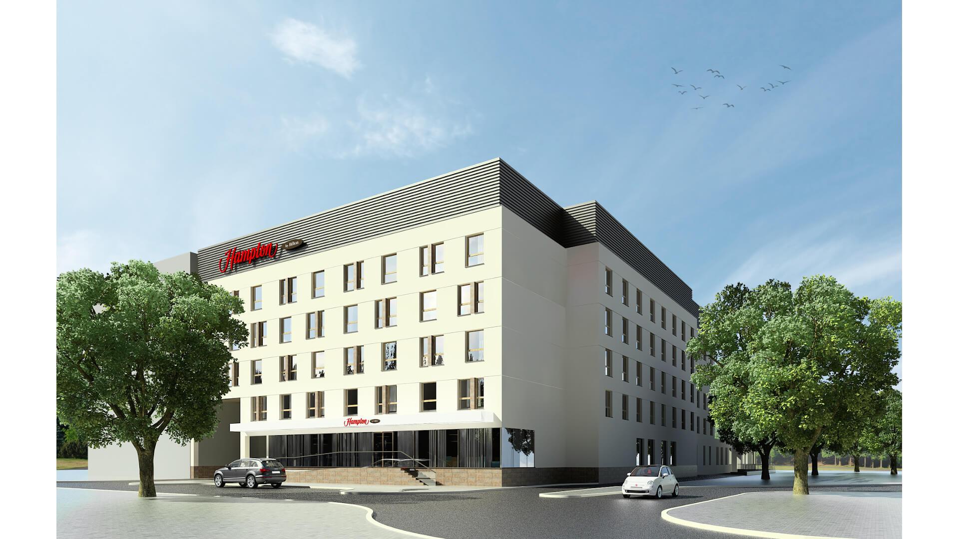 Wizualizacja hotelu Hampton by Hilton w Białymstoku, © 2021 Hilton