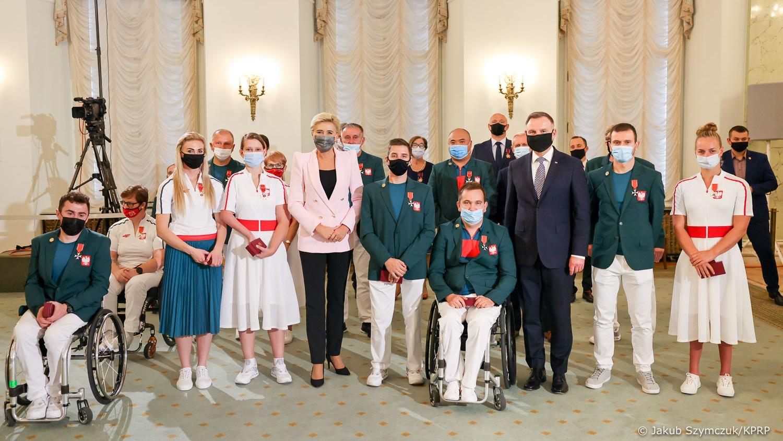 Pałac Prezydencki, Uroczystość wręczenia odznaczeń paraolimpijczykom z letnich igrzysk w Tokio, fot. Jakub Szymczuk/KPRP