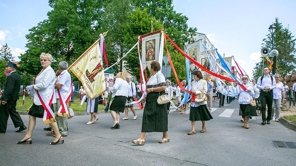 Uroczystość Bożego Ciała w Łomży w 2017 r., fot. Paweł Wądołowski/ Archiwum