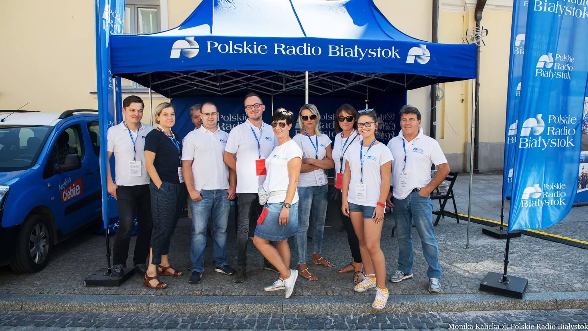 Plenerowe studio Polskiego Radia Białystok na Rynku Kościuszki, fot. Monika Kalicka